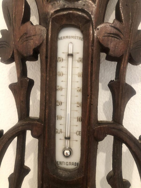 Antique Barometer & Thermometer