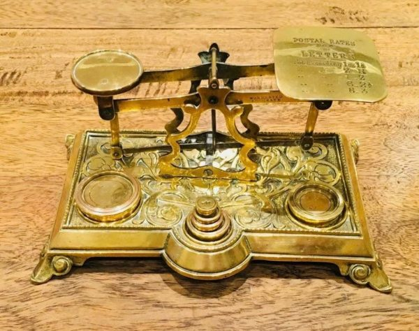 Victorian letter weighing balance